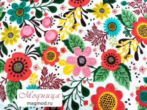 Бязь набивная мода цветочный принт ткани модница
