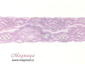 Кружево эластичное розовая гамма