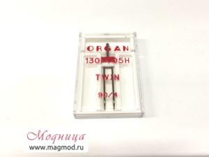 Игла для бытовых швейных машин двойная магазин Модница