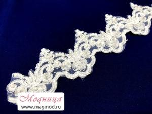Кружево свадебное с пайетками и бусинами купить екатеринбург