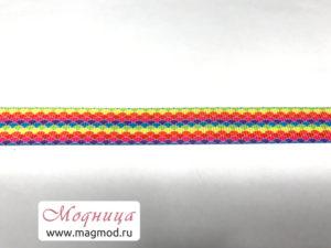 Лента репсовая с рисунком яркие цвета
