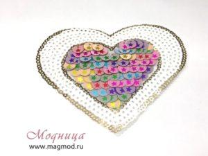 Аппликация пришивная Fashion Сердце купить екатеринбург Модница