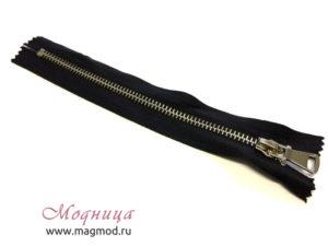 Молния металлическая джинсовая никель тип 5 1 бегунок товары для шитья