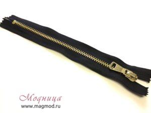 Молния металлическая джинсовая золото тип 5 1 бегунок купить фурнитура одежда