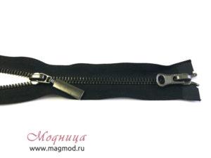 Молния металлическая черный никель тип 5 2 бегунка широкий ассортимент екатеринбург