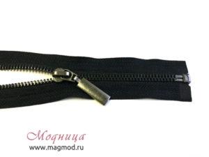 Молния металлическая черный никель тип 8 1 бегунок опт розница