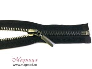 Молния металлическая черный никель тип 5 1 бегунок фурнитура для одежды