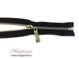 Молния металлическая никель тип 3 1 бегунок черный цвет