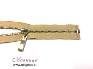 Молния металлическая никель тип 5 1 бегунок купить