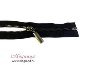 Молния металлическая черный никель товары для шитья екатеринбург