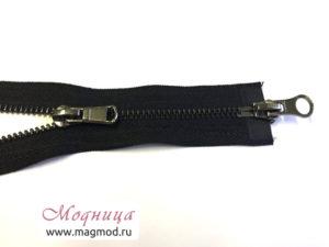 Молния металлическая черный никель тип 5 2 бегунка купить екатеринбург