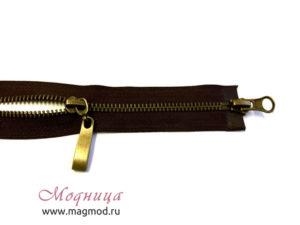 Молния металлическая антик тип 5 2 бегунка широкий ассортимент
