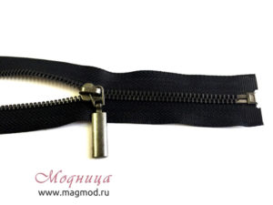 Молния металлическая черный никель тип 5 1 бегунок низкие цены