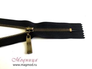Молния металлическая антик тип 5 1 бегунок широкий ассортимент