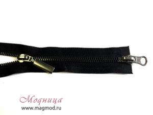 Молния металлическая черный никель тип 5 2 бегунка фурнитура екатеринбург