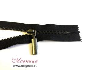 Молния металлическая черный никель тип 5 1 бегунок товары для одежды