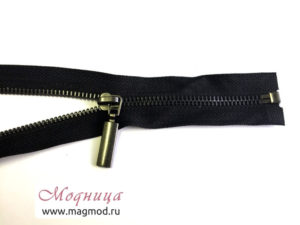 Молния металлическая черный никель тип 5 1 бегунок купить екатеринбург