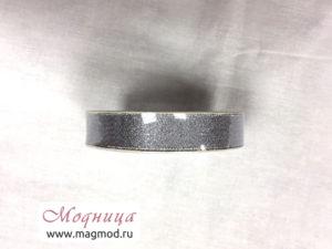 Лента металлизированная золото серебро декор