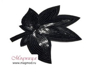 Термоаппликация FASHION Листок декор фурнитура модница