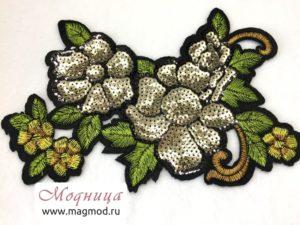 Термоаппликация FASHION Цветок декор екатеринбург