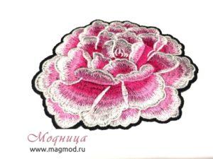 Термоаппликация Роза розовая декор дизайн