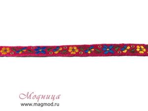 Тесьма жаккардовая декор цветочки екатеринбург фурнитура