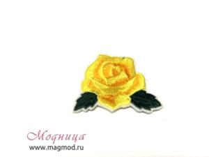 Термоаппликация Роза маленькая дизайн цвета цветы