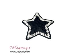 Термоаппликация Звезда пайетки опт розница