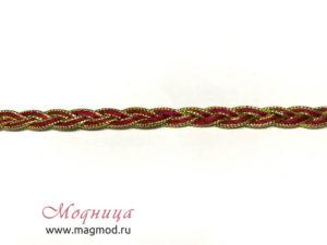 Тесьма Косичка с люрексом ткани фурнитура дизайн