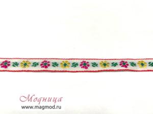 Тесьма жаккардовая цветы декор одежда фурнитура