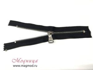 Молния металлическая никель тип 5 16 см 1 бегунок фурнитура для одежды екатеринбург