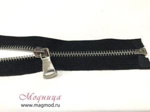 Молния металлическая никель тип 5 50 см 1 бегунок купить оптом и в розницу