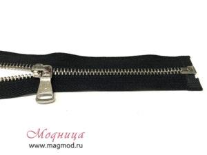 Молния металлическая никель тип 5 55 см 1 бегунок различная длина цвета