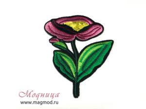 Термоаппликация Роза цветок украшение декор купить