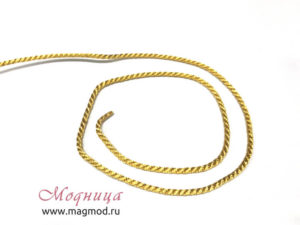 Шнур металлизированный стиль декор серебро золото модница