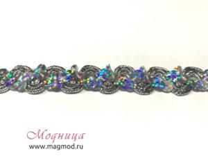 Тесьма металлизированная с пайетками декор блеск модница екатеринбург