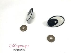 Глазки винтовые Овал фурнитура игрушки декор рукоделие модница
