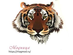 Термотрансфер Тигр екатеринбург модница