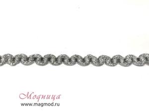 Тесьма металлизированная декор стиль мода фурнитура