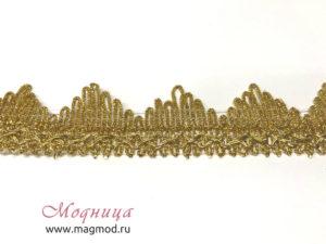 Тесьма металлизированная декор опт розница