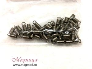 Концевики пружинки под платину декоративные элементы декор модница ткани фурнитура екатеринбург