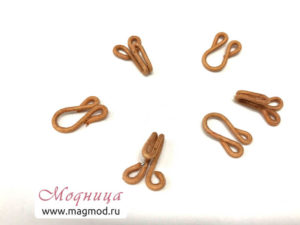 Крючок шубный металлический обтяжной модница фурнитура ткани опт розница