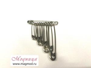 Набор булавок безопасных металлических (10 шт) купить екатеринбург