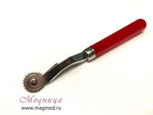 Копир металлический с пластиковой ручкой ткани фурнитура рукоделие екатеринбург модница