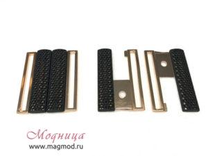 Пряжка металлическая золото черный узор фурнитура украшение декор модница