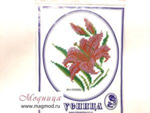 Набор для вышивания бисером Тюльпан рукоделие ткани опт розница