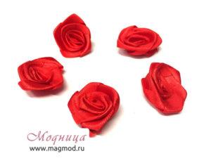 Цветок атласный декор украшение модница