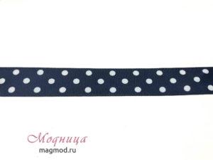 Лента репсовая ГОРОХ декоративная лента дизайн стиль магазин модница екатеринбург