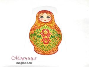 Термотрансфер Матрешка народный декор модница фурнитура опт розница