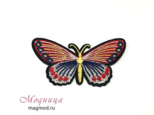 Термоаппликация Бабочка декор широкий ассортимент магазин модница